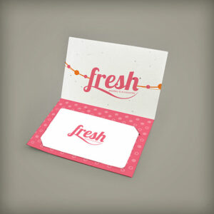 Small Folded Seed Paper Gift Card Holders