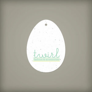 Egg Shape Seed Paper Tags