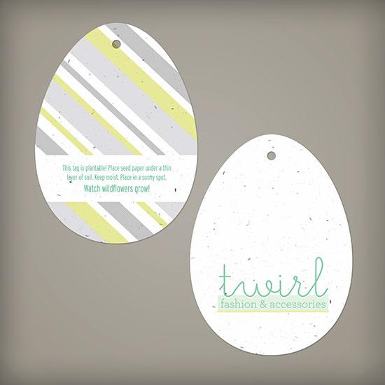 Egg Shape Seed Paper Tags