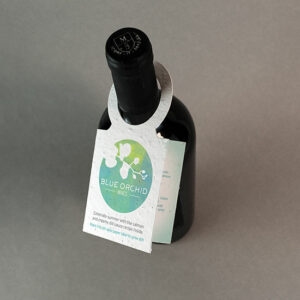 Seed Paper Wine Bottle Tags with Fold