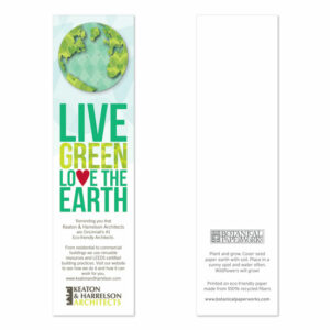 Love the Earth Eco Bookmarks With Shape