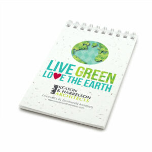 Love the Earth Coil Bound Personalized Plantable Pocket Notepads