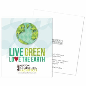 Love the Earth Plantable Earth Corporate Flat Cards