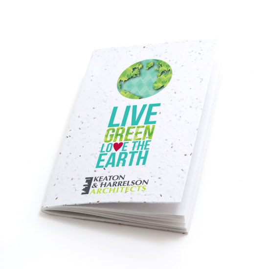 Love the Earth Personalized Plantable Pocket Notebooks