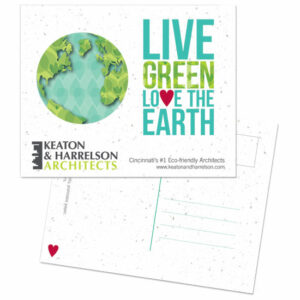 Love the Earth Personalized Plantable Postcards