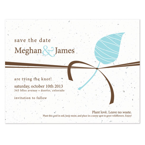 Embrace Plantable Save the Date Cards