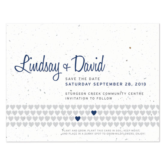 Two Hearts Plantable Save the Date Cards