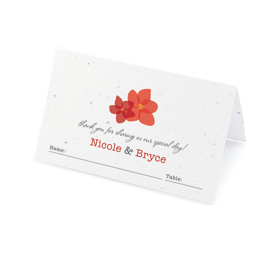 Fresh Flowers Plantable Place Cards: Modern Duo