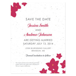 Fresh Flowers Plantable Save The Date Cards: Petite Garden