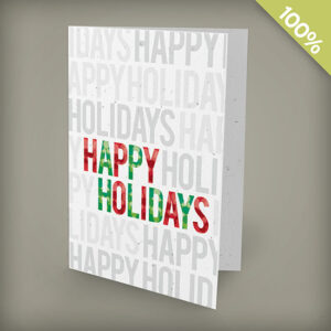 Milestone Collection: Happy Holidays Plantable Personalized Christmas Cards