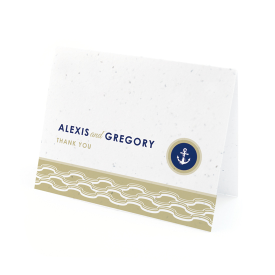 Nautical Plantable Thank You Cards