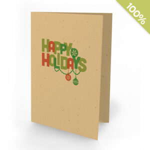 Colorful Greetings Personalized Christmas Seed Cards