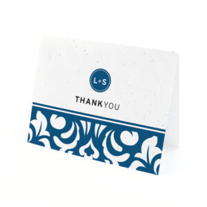 Plantable Modern Damask Thank You Cards
