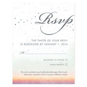 Celebrate Ombre Plantable Reply Cards
