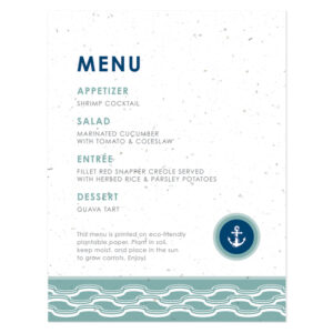 Nautical Plantable Menu Cards