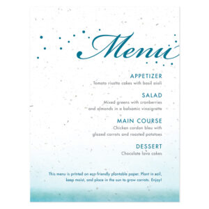 Celebrate Ombre Plantable Menu Cards