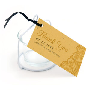 Romantic Lace Seed Favor Tags