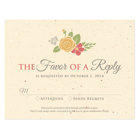 Floral Wreath Seasons Reply Cards