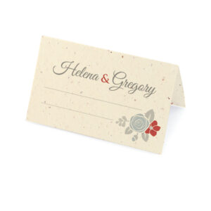 Floral Wreath Seasons Place Cards