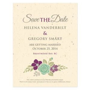 Floral Wreath Seasons Save The Date Cards
