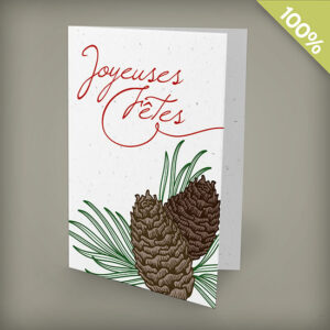Pinecone Joyeuses Fêtes Personalized Cards