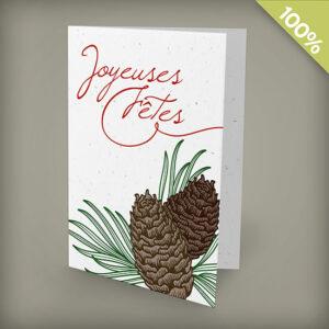 Pinecone Joyeuses Fêtes Personalized Cards