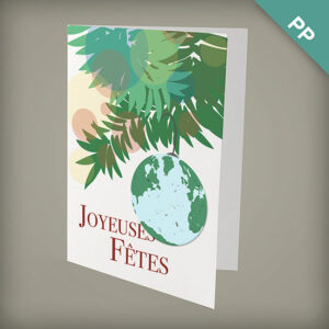 Plantable Earth Joyeuses Fêtes Personalized Cards