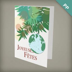 Plantable Earth Joyeuses Fêtes Personalized Cards