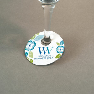 Single-Sided Wine Glass Tags