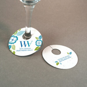 Double-Sided Wine Glass Tags