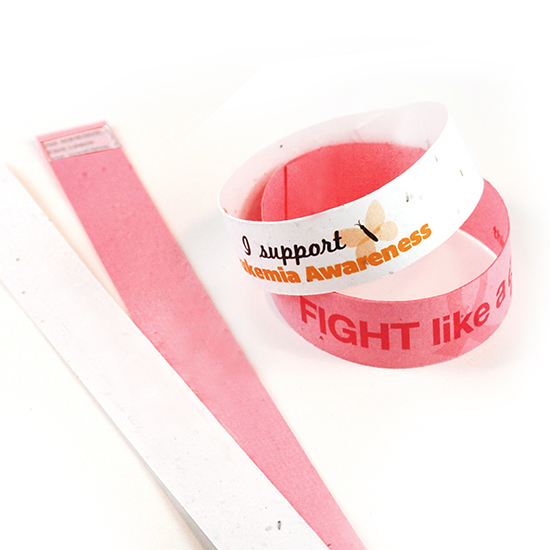 Single Sided Seed Paper Wristbands Slim