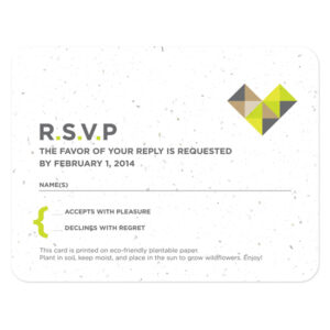 Geometric Seed Reply Cards