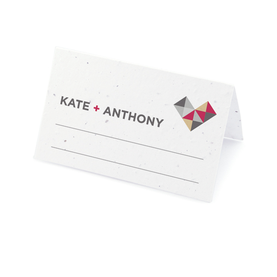 Geometric Seed Place Cards