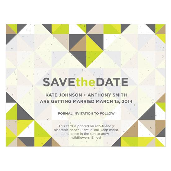 Geometric Seed Save the Dates