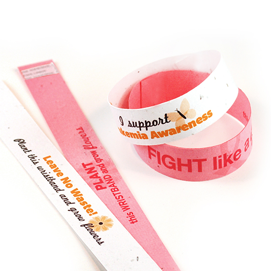 Double Sided Seed Paper Wristbands Slim
