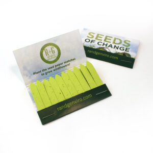 Large Seed Paper Matchbooks, Double-Sided