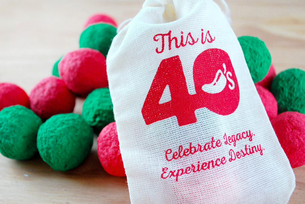 Chilli's restaurant's plantable seed bombs promotional product
