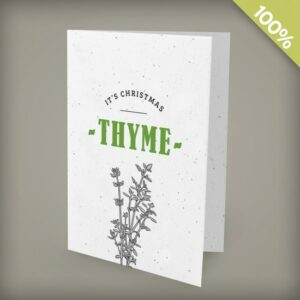 It's Christmas Thyme Corporate Holiday Cards