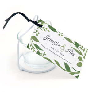 Give your guests an additional gift that grows with these greenery-inspired plantable favor tags that grow when planted.