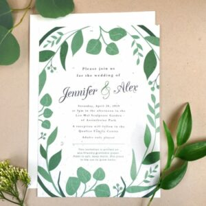 Elegant and graceful, the Classic Greenery Plantable Wedding Invitations embrace organic details for a fresh and natural feeling.