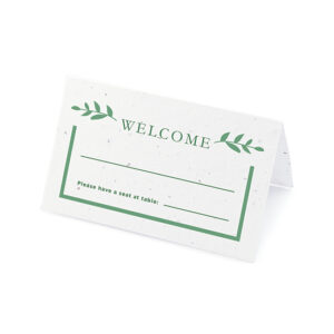 Elegant and eco-friendly, these plantable place cards give the give of wildflowers to your guests.