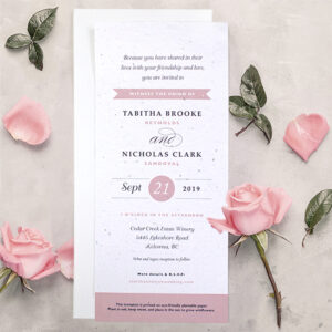 These Classic Text Plantable Wedding Invitations can be planted to grow wildflowers!