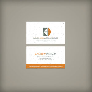 These Classic Seed Paper Business Cards are classic, clean, sophisticated and 100% eco-friendly!