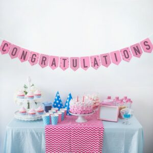 Add a pop of color to the walls to decorate for your event in an eco-friendly way with this Plantable & Eco-friendly Party Banner Bunting: Congratulations.