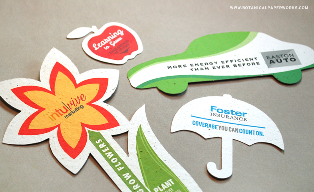 Custom Seed Paper Printed Shaped Promotional Products