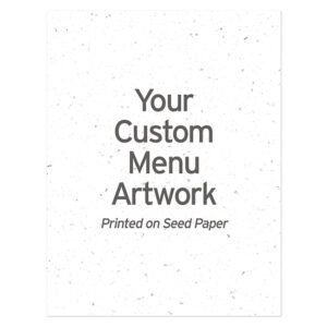 Custom Plantable Menu Cards