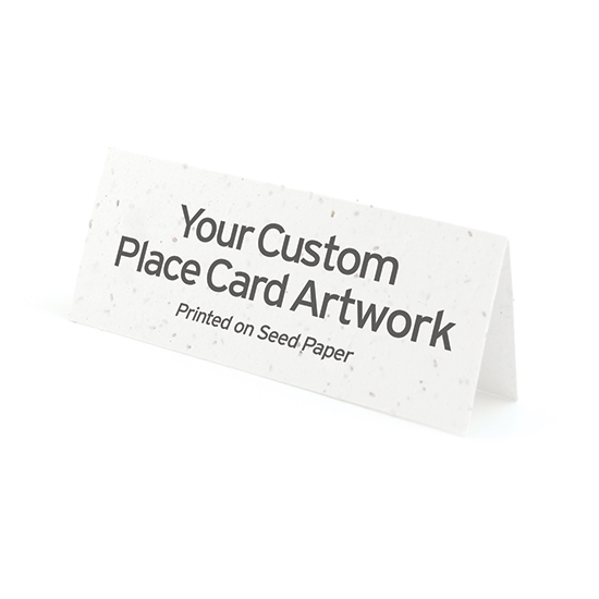 2 x 5 inches folded custom place cards