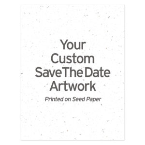 Custom Plantable Save The Date Cards