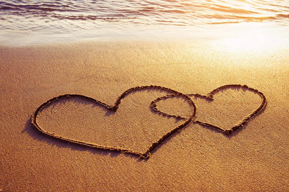 Destination Wedding Heart-Drawn in the Sand