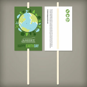 These clever Earth Day Planting Sticks give recipients a seed filled Earth to plant on April 22nd as well as a planting stick with your logo to mark the spot!
